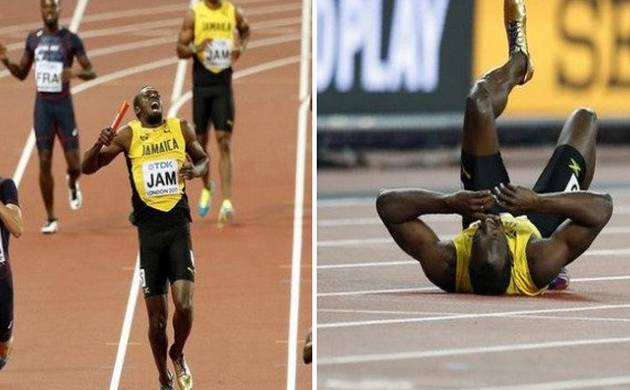 World Championships: Usain Bolt's final race of career ended in injury, sprinter breaks down in tears (ANI Image)