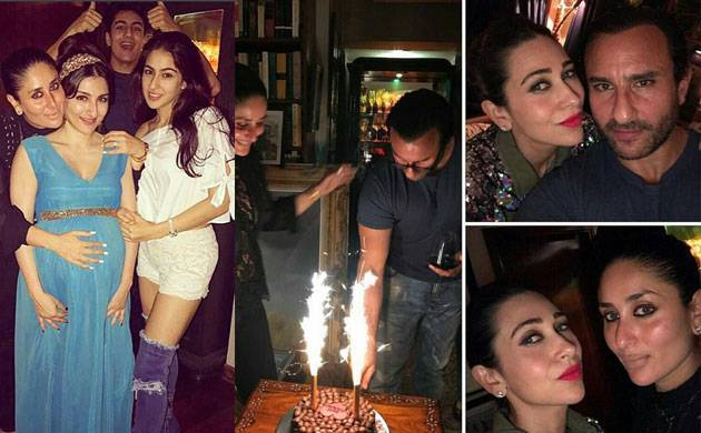 Saif Ali Khan rings his birthday with wife Kareena and ... Saif Ali Khan Wife And Kids