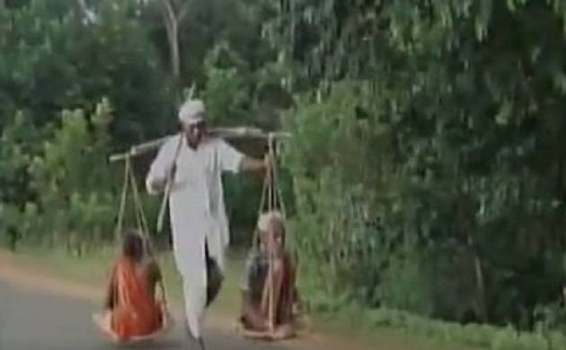 Video   Odisha's tribal man carries parents on sling to get justice