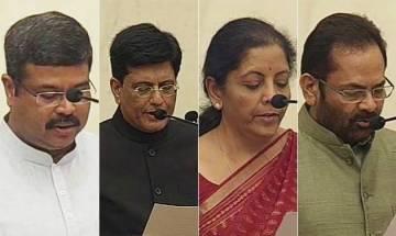 Cabinet reshuffle: Piyush Goyal, Dharmendra Pradhan, Naqvi and N Sitharaman get promotion