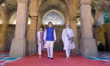 PM Modi and Japanese PM Abe hold roadshow to Sabarmati Ashram; visit 'Sidi Saiyyid Ni Jaali' mosque in Ahmedabad