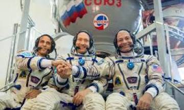 Watch Video: Soyuz MS-06 spacecraft carrying three crew members to ISS launched from Baikonur, Kazakhstan