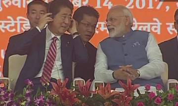 PM Modi, Shinzo Abe lay foundation stone of India's first bullet train, top quotes