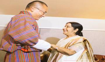 Sushma Swaraj meets Bhutanese PM, Tunisian FM on sidelines of UN General Assembly