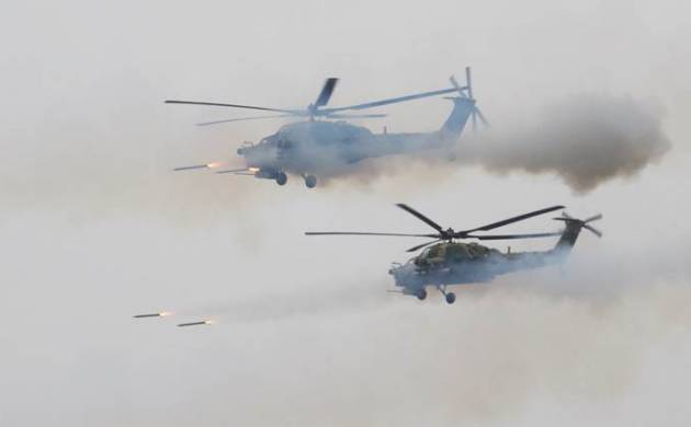 Helicopter fires on spectators during Russian war games