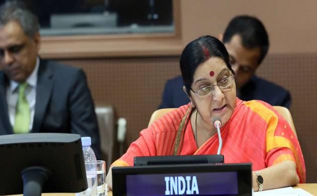 India's External Affairs Minister Sushma Swaraj (Twitter Image)