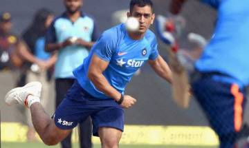 Watch | India vs Australia: MS Dhoni bowls spin at nets ahead of third ODI in Indore