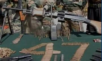 Kashmir: Army busts terrorist hideout in Handwara, seizes large cache of arms&ammunition