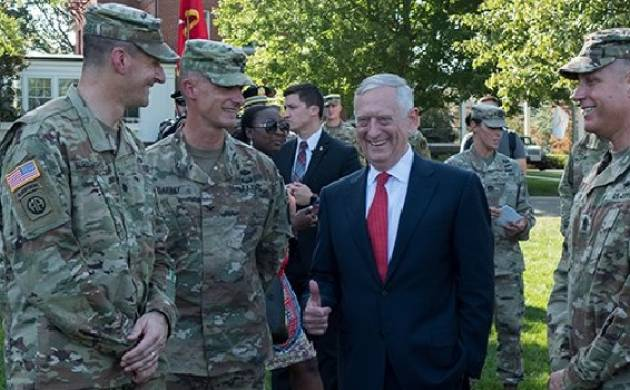 US Defence Secretary Jim Mattis reaches India, talks likely on new defence projects. (Source: Twitter/US Dept of  Defence)