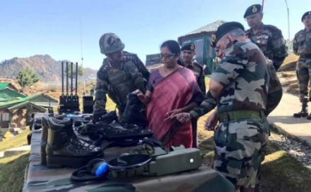 J&K: Nirmala Sitharaman reaches Srinagar, visits forward post on LOC