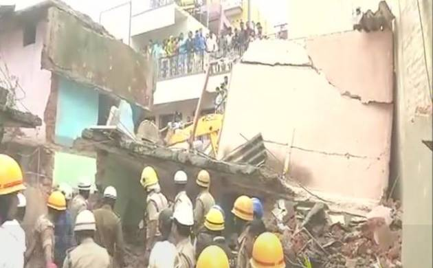 Bengaluru: 4 Residential building collapse in Ejipura 6 dead (Image: ANI)