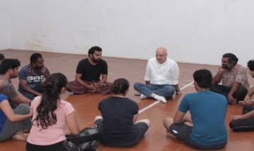 FTII Chairman Anupam Kher on his surprise visit to campus tells students I am on your side