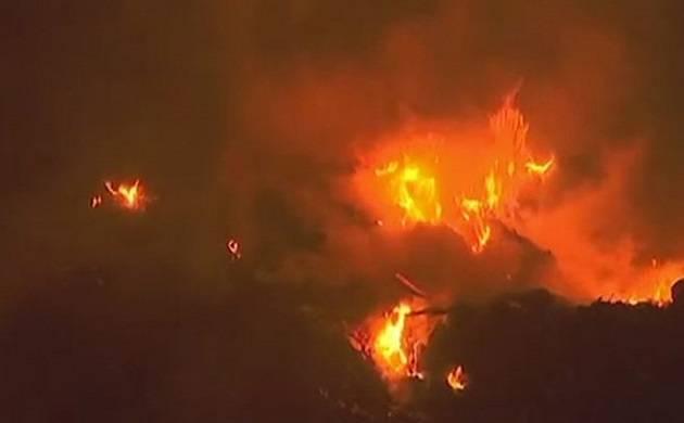Delhi: Massive fire leads to collapse of four-storeyed building at Mansarovar Garden (Representational Image)
