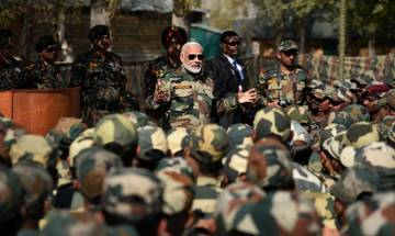 PM Modi, Army Chief celebrate Diwali with troops in J-K's Gurez sector along the LoC