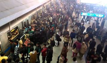 Trains on Delhi Metro's blue line running late due to technical glitch at Rajiv Chowk station