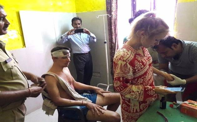 Swiss couple attacked in Agra. (Source: Ani)