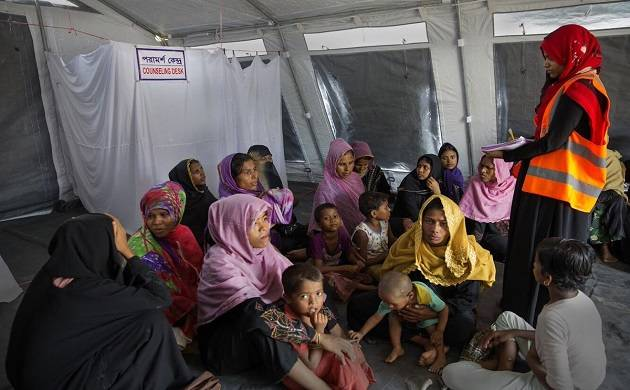 Rohingyas in a medical camp (Twitter)