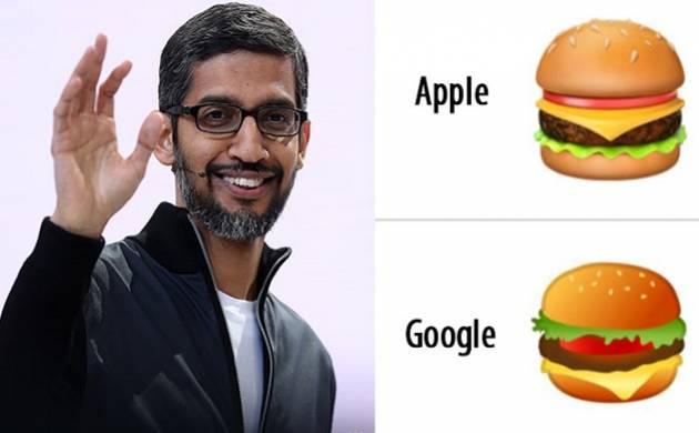 'Chessy' brainstorming over apt order of cheese in burger, Google CEO Sundar Pichai promises to fix cheeseburger emoji.