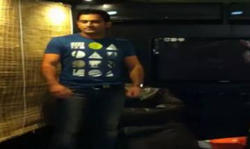 Watch | Dhoni's dance moves on John's 'Desi Boyz' song amuse wife Sakshi