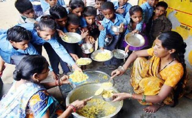MP govt primary school children asked to clean toilet with mid day meal plates