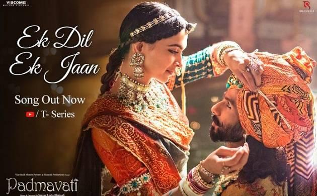 Padmavati second song Ek Dil Ek Jaan: Love ballad showcases eternal bond between Rani Padmini, Maharawal Ratan Singh