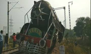 Haryana: Heritage engine featured in over 20 Bollywood films derails in Rewari