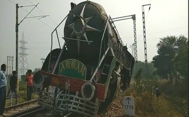 Haryana: Heritage engine featured in over 20 films derails in Rewari (Source: ANI)