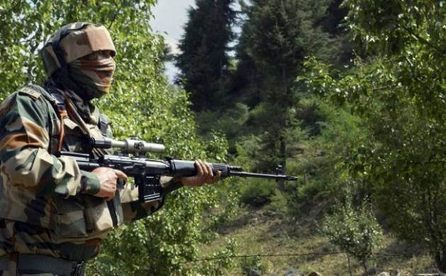 Firing is underway as Indian army is retaliating.  (File photo)