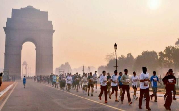 Delhi takes part in Half Marathon despite health warning from Indian Medical Association