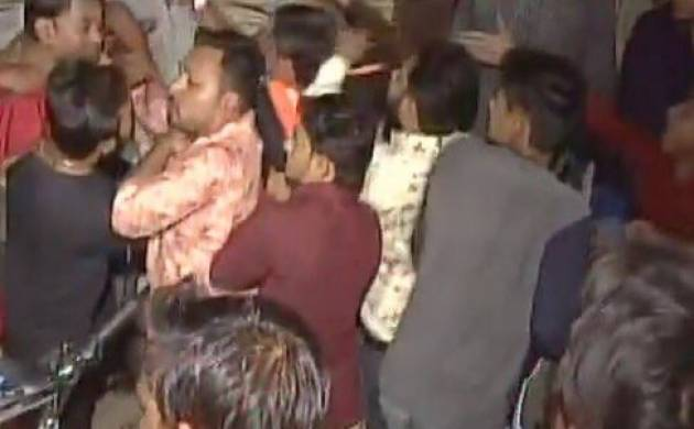 Gujarat Assembly elections 2017: Clash erupts between Congress, PASS workers over seat distribution in Surat (Photo-ANI)