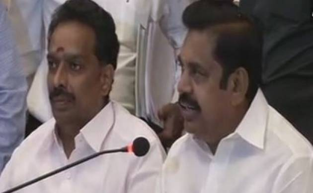 AIADMK two leaves symbol row: TN CM Palaniswami claims EC has allotted symbol to EPS-OPS faction (Photo-ANI)