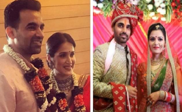 'Two down in a day': Bhuvneshwar ties the knot with Nupur, Zaheer Khan marries Sagarika Ghatge