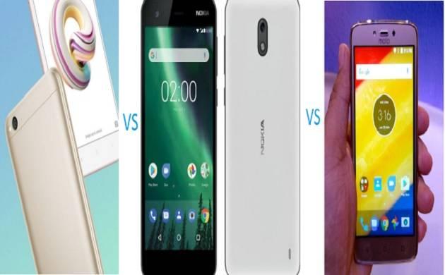 Smartphone comparison: Redmi 5A vs Nokia 2 vs Moto C Plus