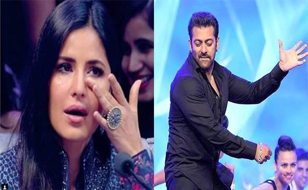 Salman Khan cheers up teary-eyed Katrina Kaif during TZH promotions