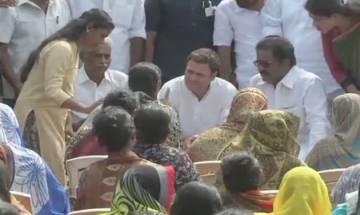 Rahul Gandhi visits Cyclone-hit areas in Kerala, meets families of affected fishermen