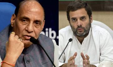 Gujarat Polls: Rajnath attacks Rahul Gandhi; says 'BJP dousing fire lit by Congress'