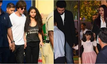 Shah Rukh Khan, Abhishek Bachchan, Aishwarya Rai cheer for AbRam and Aradhya at their annual day event