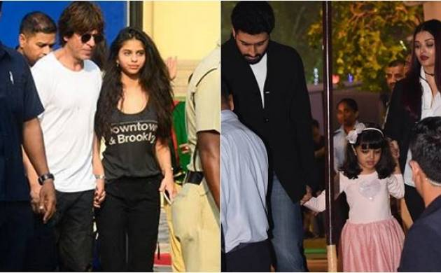 SRK, Abhishek, Aishwarya cheer for their kids at annual day event (Image courtesy: Instagram, Twitter)