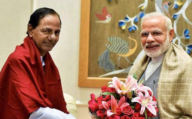 KCR congratulates Modi for BJP winning Gujarat, Himachal polls (file pic)
