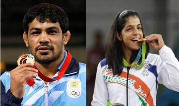 Sushil Kumar, Sakshi Malik win gold at Commonwealth Wrestling