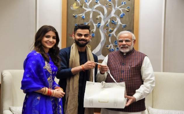 Newly wed Virat Kohli, Anushka Sharma meet Prime Minister Narendra Modi