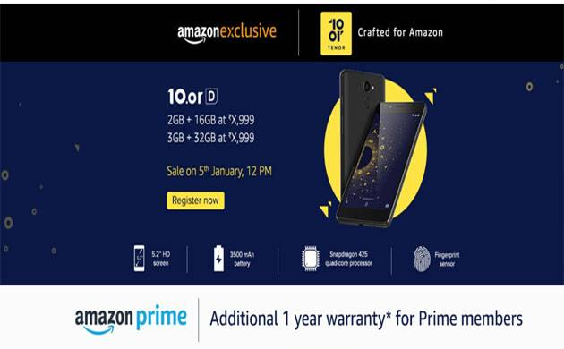 10. or D with 13MP rear camera launched at Rs 4,999 on Amazon