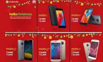 Moto smartphones get a Christmas sale discount in India