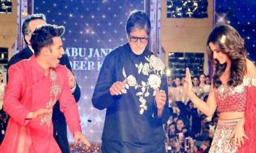 Amitabh Bachchan, Shah Rukh Khan, Varun Dhawan, Alia Bhatt descend to Mukesh Ambani's stage on Reliance's 40th birth anniversary