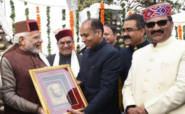 Himachal Chief Minister Jairam Thakur  with PM Modi (Source: Twitter)