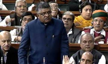 Bill criminalising triple talaq introduced in Lok Sabha, Ravi Shankar Prasad calls it 'historic day'