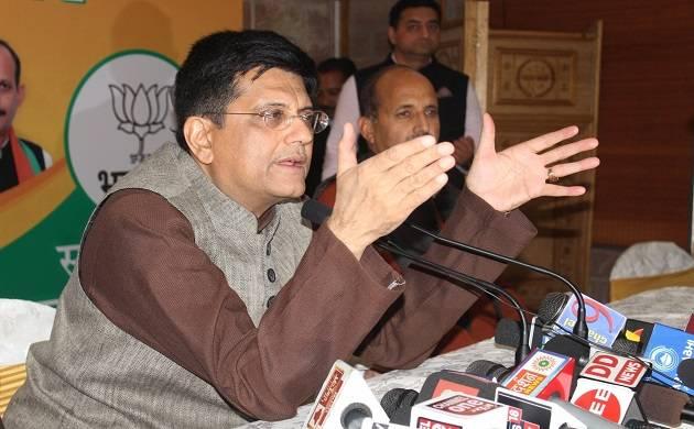 nion Railways Minister Piyush Goyal addresses a press conference (Source: IANS)