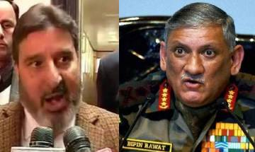 Don't dare challenge the Army chief, BJP warns J&K minister