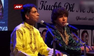President confers noted Ghazal singers Ahmed Hussain, Mohammed Hussain with Sangeet Natak Akademi award