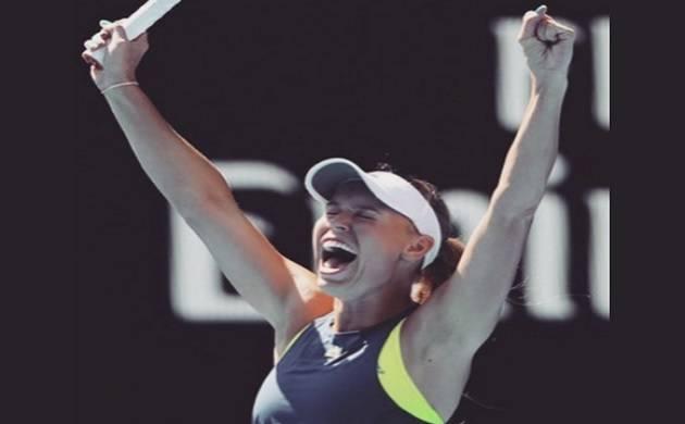 Caroline Wozniacki beats Simona Halep to win women's singles title(Source - Caroline Wozniacki Twitter)